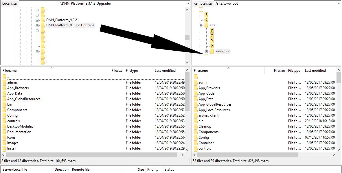 Upgrading a DNN INstallation - Blog